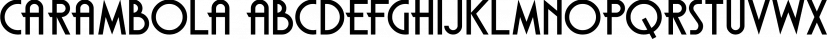 Carambola font family by Hanoded