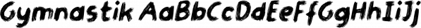 Gymnastik font family by Bogstav