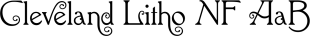 Cleveland Litho NF font family mini