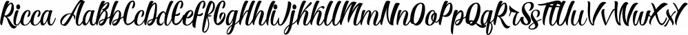 Ricca font family by olexstudio