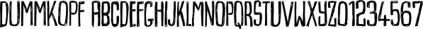 Dummkopf font family by Bogstav