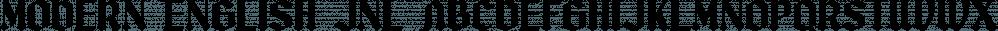 Modern English JNL font family by Jeff Levine Fonts