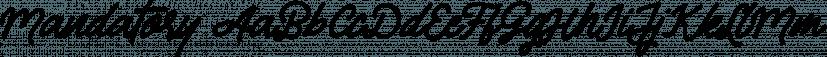 Mandatory font family by Letterhend Studio