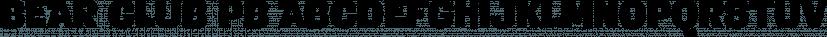 Bear Club PB font family by Pink Broccoli