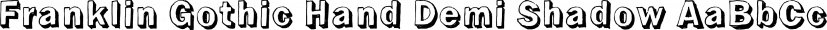 Franklin Gothic Hand Demi Shadow font family by Wiescher-Design