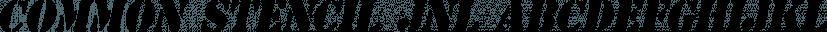 Common Stencil JNL font family by Jeff Levine Fonts