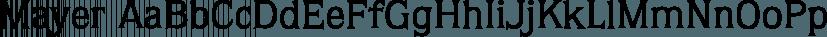 Mayer font family by FontSite Inc.