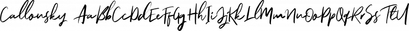 Callonsky font family by Letterhend Studio