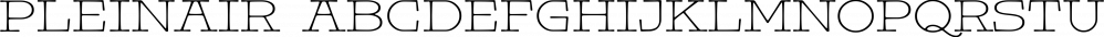 Pleinair font family by Gaslight