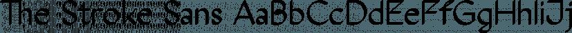 The Stroke Sans font family by ABSTRKT