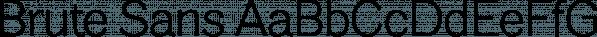 Brute Sans font family by Wiescher-Design