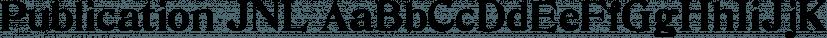Publication JNL font family by Jeff Levine Fonts