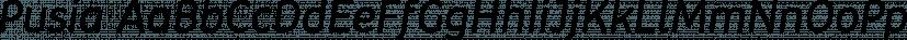Pusia font family by ROHH