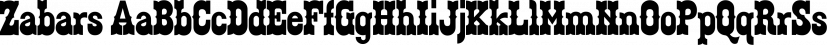 Zabars font family by K-Type