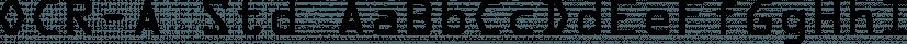 OCR-A Std font family by Adobe