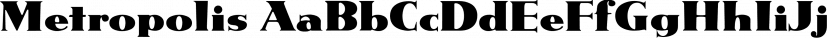 Metropolis font family by FontSite Inc.