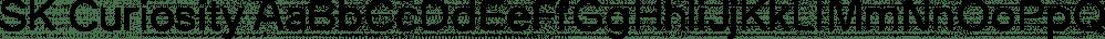 SK Curiosity font family by Salih Kizilkaya