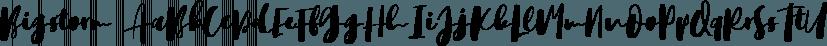 Bigstorm font family by Letterhend Studio