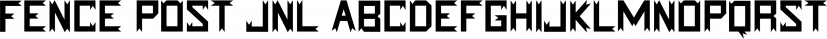 Fence Post JNL font family by Jeff Levine Fonts