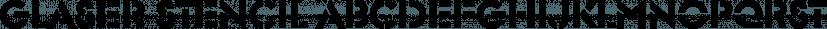 Glaser Stencil font family by FontSite Inc.