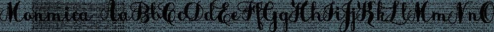 Monmica font family by Aga Silva Fonts