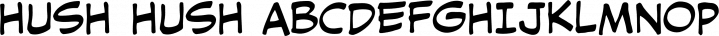 Hush Hush font family by Comicraft