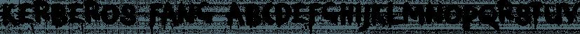 Kerberos Fang font family by Hanoded
