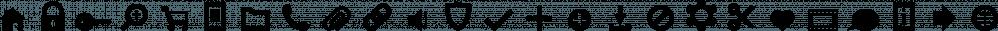 Primitive Icons font family by Juraj Chrastina