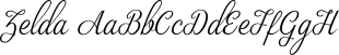 Zelda font family mini