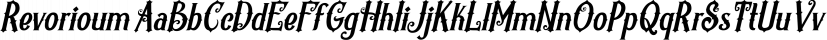 Revorioum font family by Seventh Imperium