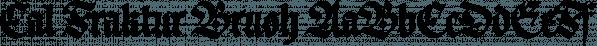 Cal Fraktur Brush font family by Posterizer KG