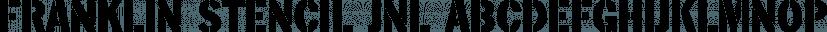Franklin Stencil JNL font family by Jeff Levine Fonts