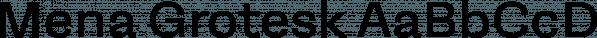 Mena Grotesk font family by Compañía Tipográfica De Chile