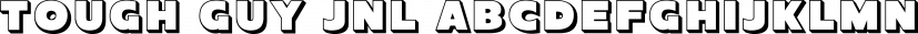 Tough Guy JNL font family by Jeff Levine Fonts