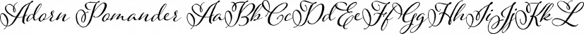 Adorn Pomander font family by Laura Worthington