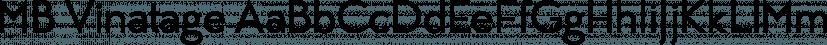 MB Vinatage font family by Ben Burford Fonts