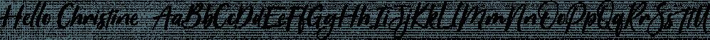 Hello Christine  font family by Letterhend Studio
