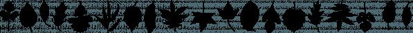XLeefMeAlone font family by Ingrimayne Type