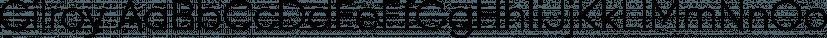 Gilroy font family by Radomir Tinkov