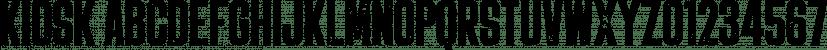 Kiosk font family by Fenotype