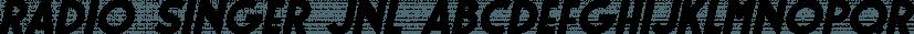 Radio Singer JNL font family by Jeff Levine Fonts