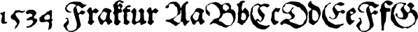 1534 Fraktur font family by GLC Foundry