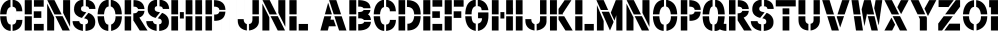 Censorship JNL font family by Jeff Levine Fonts
