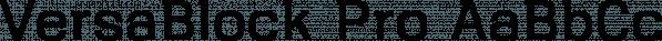 VersaBlock Pro font family by Parker Creative