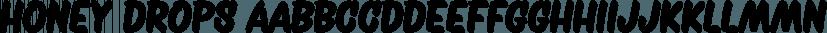 Honey Drops font family by Fenotype