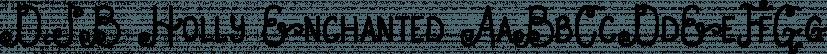 DJB Holly Enchanted font family by Darcy Baldwin Fonts