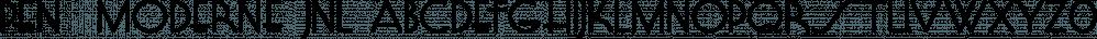Pen  Moderne JNL font family by Jeff Levine Fonts