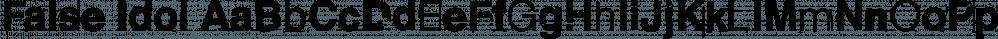 False Idol font family by Barnbrook Fonts