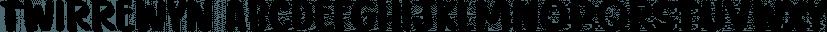 Twirrewyn font family by Hanoded