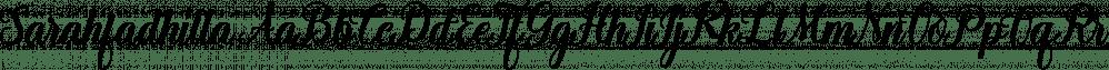 Sarahfadhilla font family by RtCreative